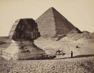 エジプト、ギザ、スフィンクス、ピラミッド、侵食、頭