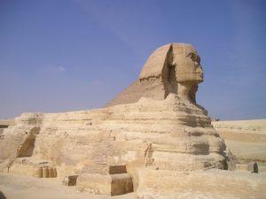 エジプト、ギザ、スフィンクス、ピラミッド